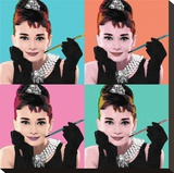 Audrey Hepburn (Pop Art) Tableau sur toile