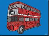 Visitez Londres en autobus à impériale, le Routemaster rouge Tableau sur toile
