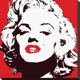 Marilyn Monroe - Rouge Tableau sur toile