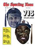 New York Yankees' Babe Ruth and Atlanta Braves' Hank Aaron - April 20  1974
