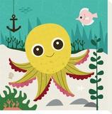 Ocean Friends, Olga Tableau sur toile par Jenn Ski