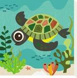 Ocean Friends, Terrance Tableau sur toile par Jenn Ski