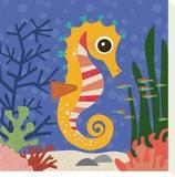 Ocean Friends, Samuel Tableau sur toile par Jenn Ski