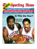 Philadelphia 76ers Moses Malone and Julius Erving - November 1  1982