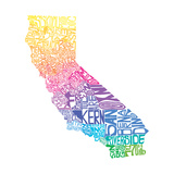 Typographic California Spring