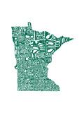 Typographic Minnesota Green