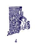 Typographic Rhode Island Navy