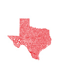 Typographic Texas Red