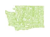 Typographic Washington Green