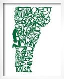 Typographic Vermont Green