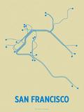 San Francisco Sérigraphie par LinePosters