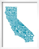 Typographic California Teal