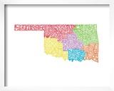 Typographic Oklahoma Regions