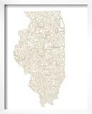 Typographic Illinois Beige
