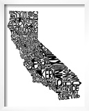 Typographic California