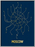 Moscow (Navy & Gold)
