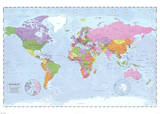 World Map (Political  Time Zones)