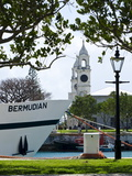 Tour Boat and Clocktower at the Royal Naval Dockyard  Bermuda  Central America