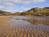 Sand Ripple Patterns on Little Gruinard Beach  Gruinard Bay  Wester Ross  Northwest Scotland
