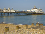 Eastbourne Pier  Beach and Groynes  Eastbourne  East Sussex  England  United Kingdom  Europe