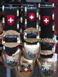 Cowbell Souvenirs in Zermatt  Switzerland  Europe