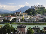 View of the Old Town and Fortress Hohensalzburg  Seen From Kapuzinerberg  Salzburg  Austria  Europe