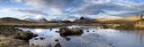 Lochain Na H'Achlaise Towards the Mountains of the Black Mount Range  Scotland