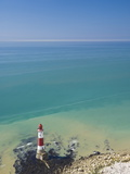 Beachy Head Lighthouse  East Sussex  English Channel  England  United Kingdom  Europe