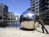 Stainless Steel Sculpture By Kevin Atherton  Clarence Dock  Leeds  West Yorkshire  England  Uk