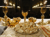Eucharist in Notre Dame Cathedral  Paris  France  Europe