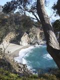Waterfall and Beach at Julia Pfeiffer Burns State Park  Near Big Sur  California