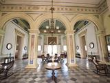 Interior of the Palacio Brunet  Houses Museo Romantico  Trinidad  Cuba  West Indies  Caribbean