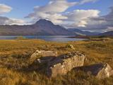 Slioch and Loch Maree  Wester Ross  North West Scotland  United Kingdom  Europe