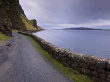 Road and Loch Na Keal  Isle of Mull  Inner Hebrides  Scotland  United Kingdom  Europe