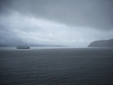 A Ferry Boat Moves Through Stormy Weather From Vashon Island to West Seattle Washington State  USA