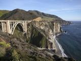 Bixby Bridge  Along Highway 1 North of Big Sur  California  United States of America  North America