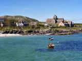 Iona Abbey  Isle of Iona  Inner Hebrides  Scotland  Uk