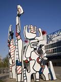 Jean Dubuffet Statue Called  Monument Au Fantome  Downtown Houston  Texas