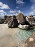 Large Eroded Granite Outcrops at the Baths in Virgin Gorda  British Virgin Islands  West Indies