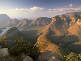 Blyde River Canyon and the Three Rondavels  Mpumalanga  South Africa  Africa