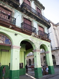 Old Buildings With Porticos  Havana  Cuba  West Indies  Central America