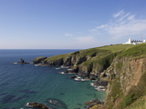 Lighthouse  Lizard Point  Cornwall  England  United Kingdom  Europe