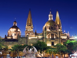 Cathedral in Plaza De Armas  Guadalajara  Mexico  North America