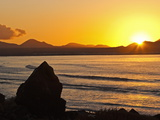 Sunset Over the Bay at Famara  Lanzarote's Finest Surf Beach  Canary Islands