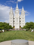 Mormon Temple on Temple Square  Salt Lake City  Utah  United States of America  North America