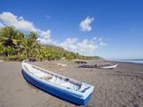 Fishing Boats on the Beach at Playa Sihuapilapa  Pacific Coast  El Salvador  Central America