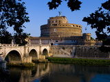 Castello Sant Angelo and River Tiber  Rome  Lazio  Italy  Europe