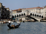 Rialto Bridge  Grand Canal  Venice  Veneto  Italy  Europe