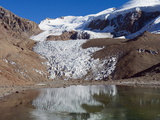 Glacier Near Plaza De Mulas Basecamp  Aconcagua Provincial Park  Andes Mountains  Argentina