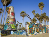 Art Walls  Legal Graffiti  on Venice Beach  Los Angeles  California  USA